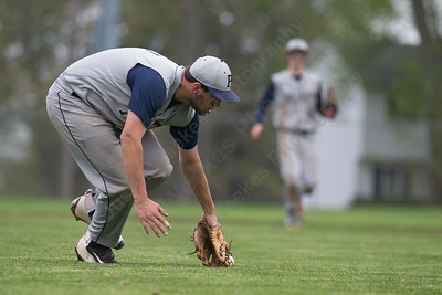 Platt's Jason Sullivan  isses fielding Maloney's Joseph Gulino bunt Saturday at Ceppa Field in Meriden May. 7, 2016 | Justin Weekes / For the Record-Journal