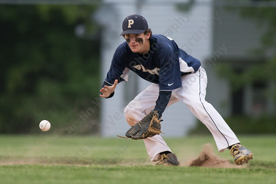 Platt's Cameron Coon fields a ground ball from Maloney's Aidan Clancy Monday at Ceppa Field in Meriden May,23 2016 | Justin Weekes For the Record-Journal