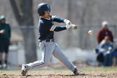 Platt's Peyton Thiel makes contact for a single Saturday at Legion Field in Meriden April 7, 2018 | Justin Weekes / Special to the Record-Journal