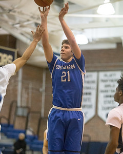 Southington's William Wadolowski puts in a jumper shot Tuesday at Platt High School in Meriden January 22, 2019 | Justin Weekes / Special to the Record-Journal