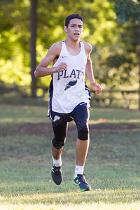 Platt's Isaiah Arce finished first for the Panthers Tuesday at Hubbard Park in Meriden October 10, 2017 | Justin Weekes / For the Record-Journal