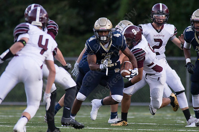 Friday during the season opener at Falcon Field in Meriden Sep. 8, 2017   Justin Weekes / For the Record-Journal