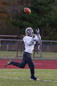 Platt's Jake Baker brings in a catch Wednesday as the Panthers prepare for the Stoddard Bowl at Platt High School in Meriden November 15, 2017 | Justin Weekes / For the Record-Journal