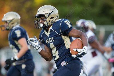 Platt's Friday during the season opener at Falcon Field in Meriden Sep. 8, 2017   Justin Weekes / For the Record-Journal