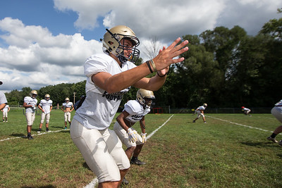 Monday during practice at Platt High School in Meriden August 20, 2018 | Justin Weekes / Special to the Record-Journal