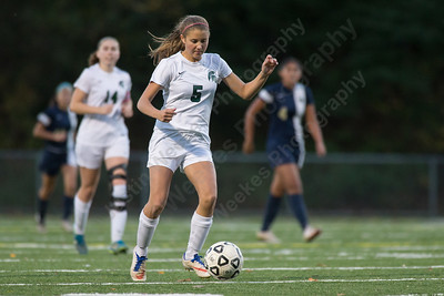 Maloney's Alexa Papallo pushes up field Monday at Falcon Field in Meriden October 30, 2017 | Justin Weekes / For the Record-Journal
