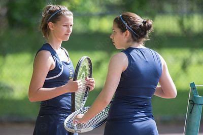 Platt's Rachel Greenberg and Ava Misner right talk during a break Thursday at Columbus Park in Meriden May. 21, 2015 | Justin Weekes / For the Record-Journal