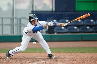 Southington's Brandon Kohl fouls off a pitch Thursday at Dunkin' Donuts Park in Hartford May 10, 2018 | Justin Weekes / Special to the Record-Journal