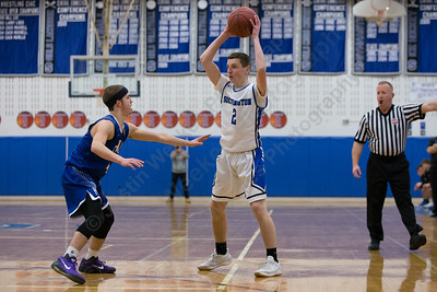 Southington's Ryan Gesnaldo sets up the offense Monday at Southington High School in Southington January 8, 2018 | Justin Weekes / Special to the Record-Journal