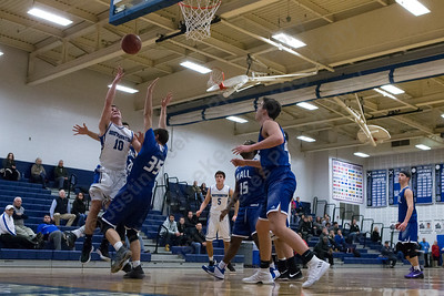 Southington's Cameron Clynes puts in a layup Monday at Southington High School in Southington January 8, 2018 | Justin Weekes / Special to the Record-Journal