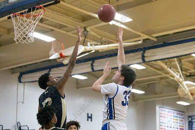 Southington's Jeremy Mercier puts in a jumper Monday at Southington High School in Southington  January 22, 2018 | Justin Weekes / Special to the Record-Journal