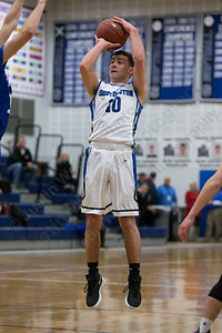 Southington's Cameron Clynes hits a jumper from the top of the lane Monday at Southington High School in Southington January 8, 2018 | Justin Weekes / Special to the Record-Journal