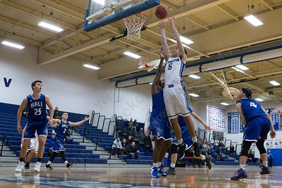 Southington's Timothy O'Shea puts in a layup Monday at Southington High School in Southington January 8, 2018 | Justin Weekes / Special to the Record-Journal