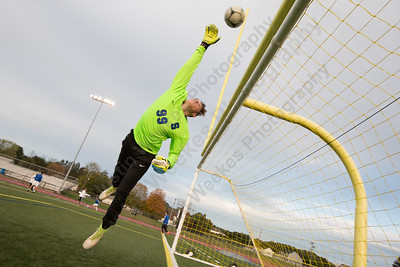Southington's John Griffin warms up before facing Avon Monday at Fontana Field on the campus of Southington High School in Southington October 16, 2017 | Justin Weekes / For the Record-Journal