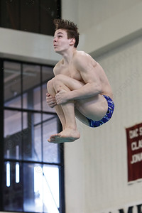 Southington's Chase Galayda third dive Thursday during the CIAC Diving open at Bulkeley High School in Hartford March 15, 2018 | Justin Weekes / Special to the Record-Journal