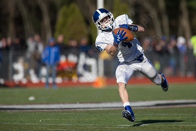 Southington's James Ringrose gets wide open for a big gain Thursday during the 22nd Annual Apple Classic on Thanksgiving Day at Alumni Field on the campus of Cheshire High School in Cheshire. The Blue Knights of Southington defeated the Cheshire Rams 30 to 22. November 23, 2017 | Justin Weekes / For the Record-Journal