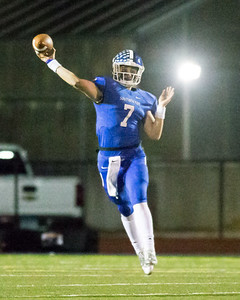 Southington's Jacob Drena looks for William Downes down field Tuesday during the CIAC Class LL quarterfinal round at Fontana Field in Southington November 27, 2018   Justin Weekes / Special to the Record-Journal