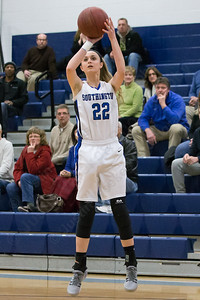 Southington's Hartlee Meier puts up a shot Thursday during first round play in the CCC tournament at Southington High School in Southington Feb. 18, 2016 | Justin Weekes / For the Record-Journal