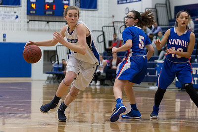 Southington's Madison Hulten drives the lane Tuesday at Southington High School in Southington January 2, 2018 | Justin Weekes / Special to the Record-Journal