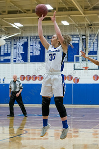 Southington's Janette Wadolowski pulls up for a shot Tuesday at Southington High School in Southington January 2, 2018 | Justin Weekes / Special to the Record-Journal