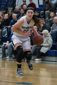 Southington's Janette Wadolowski gets an open lane to the basket Monday at Southington High School in Southington Jan. 25, 2016 | Justin Weekes / For the Record-Journal