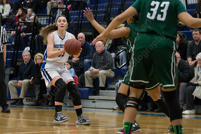Southington's Janette Wadolowski pulls up for a three point attempt Monday at Southington High School in Southington Jan. 25, 2016 | Justin Weekes / For the Record-Journal