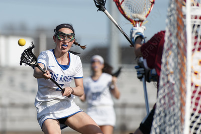 Southington's Emma Doran gets another goal Tuesday at Southington High School in Southington May 1, 2018 | Justin Weekes / Special to the Record-Journal