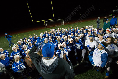 Wednesday during the 9th Annual Powder Puff football game at Veterans Memorial Stadium in New Britain. Southington defeated New Britain 20 to 0 to make it two wins in a row. November 22, 2017 | Justin Weekes / For the Record-Journal