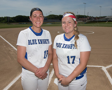 Southington's Kara Zazzaro left and Abby Lamson Wednesday at Southington High School in Southington May 31, 2016 | Justin Weekes / Special to the Record-Journal