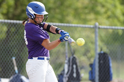 Southington's Kara Zazzaro drive a hit for a single Friday at Southington High School in Southington. Proceeds from tickets and silent action were to benefit the Dream Big with Davina Lupus Foundation May 18, 2018 | Justin Weekes / Special to the Record-Journal