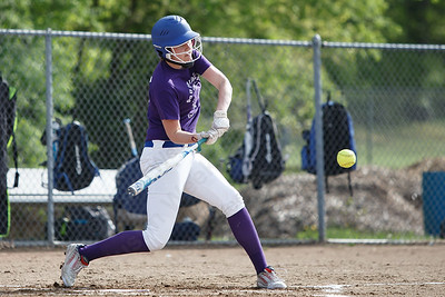 Southington's Katherine Gundersen adds another RBI Friday at Southington High School in Southington. Proceeds from tickets and silent action were to benefit the Dream Big with Davina Lupus Foundation May 18, 2018 | Justin Weekes / Special to the Record-Journal