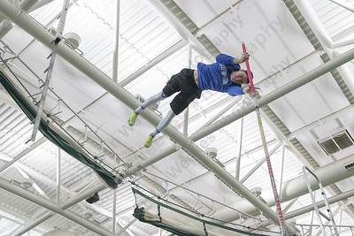 Southington's Zachary Burleigh takes a practice vault Saturday during the CIAC Class LL Indoor Track Finals at Floyd Little Athletic Center in New Haven February 10, 2018   Justin Weekes / Special to the Record-Journal