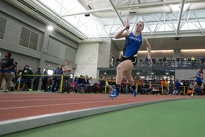 Southington's Samantha Przybylski  in the 4x200 Saturday during the CCC indoor Track and Field Championships  at the Floyd Little Athletic Center in New Haven January 27, 2018 | Justin Weekes / Special to the Record-Journal