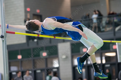 Southington's John Terray at high jump Saturday during the CCC indoor Track and Field Championships  at the Floyd Little Athletic Center in New Haven January 27, 2018 | Justin Weekes / Special to the Record-Journal
