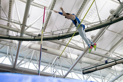 Southington's Zachary Burleigh makes an attempt at pole vault Saturday during the CCC indoor Track and Field Championships  at the Floyd Little Athletic Center in New Haven January 27, 2018 | Justin Weekes / Special to the Record-Journal