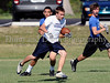 7-on-7 - Flower Mound receiver Chaz Taylor runs after making a reception in the game against North Crowley at the Colleyville Heritage 7 on 7 Tournament Saturday, May 30th at Oak Grove Park in Grapevine.