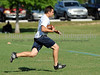 7-on-7 - Flower Mound running back Hunter Lee runs after making a reception in the game against North Crowley at the Colleyville Heritage 7 on 7 Tournament Saturday, May 30th at Oak Grove Park in Grapevine.