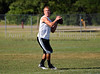 Colleyville Heritage quarterback Jeff Calvert prepares to pass during the Colleyville Heritage 7 on 7 qualifying tournament last Saturday at Oak Grove Park.
