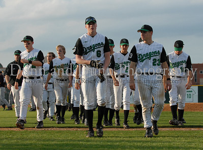 The Carroll team leaves the field as victors following their 9-8 victory over Lewisville Thursday night at Dragon Stadium.