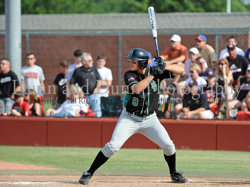 Carroll senior first baseman Will Watson bats in the Bi District Championship series against Colleyville Heritage last Friday afternoon.  Carroll defeated Heritage 3-2 to sweep the best 2 of 3 series and to end Heritage's 2009 season.