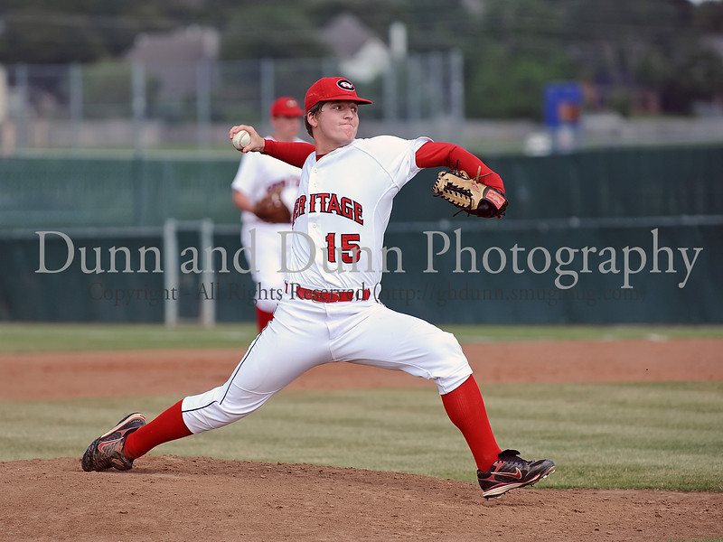 Colleyville Heritage starting pitcher Steven Hill in the Bi District Championship series against Southlake Carroll last Friday afternoon.  Carroll defeated Heritage 3-2 to end Heritage's 2009 season.