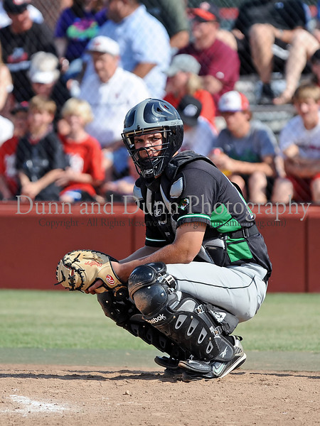Carroll senior catcher Andrew LaCombe in the Bi District Championship series against Colleyville Heritage last Friday afternoon.  Carroll defeated Heritage 3-2 to sweep the best 2 of 3 series and to end Heritage's 2009 season.