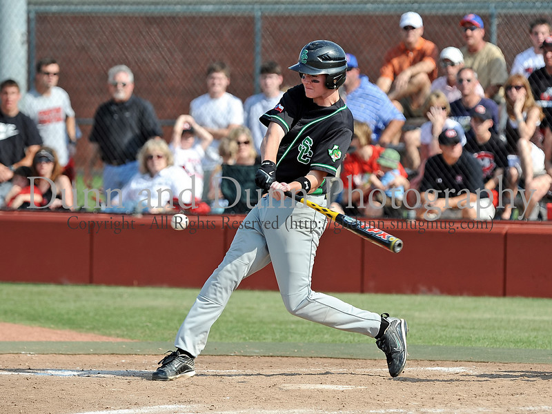 Carroll senior infielder John Weiss bats in the Bi District Championship series against Colleyville Heritage last Friday afternoon.  Carroll defeated Heritage 3-2 to sweep the best 2 of 3 series and to end Heritage's 2009 season.