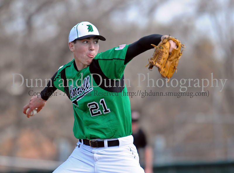 Carroll pitcher John Curtiss was the winning pitcher in Friday afternoon's 7-0 victory over Flower Mound Marcus.  Curtiss pitched a 2 hit, 6 inning shut out in the win.