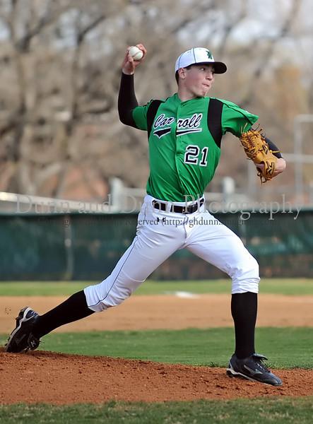 Carroll pitcher John Curtiss