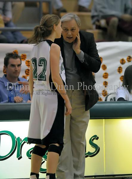 Guard Kelli Bennett and Coach Larry Dunaway