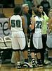 Forward Jazman Patterson, Coach Larry Dunaway and Guard Kelli Bennett