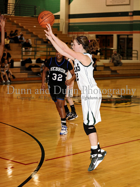 Carroll senior guard Kelli Bennett takes a shot in the game Friday night against Hebron.