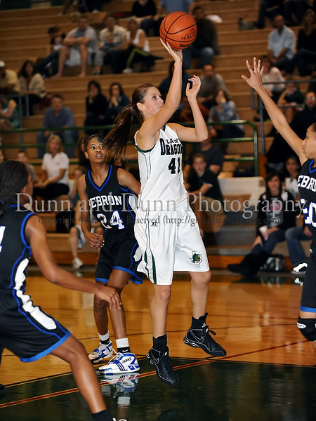 Carroll junior post Deborah Chandler takes a shot in the game Friday night against Hebron.