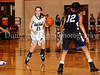 Carroll sophomore guard Monica Pillow starts the offense in the game Friday night against Hebron.